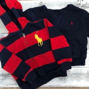 POLO Ralph Lauren Toddler Sweatshirt Bundle